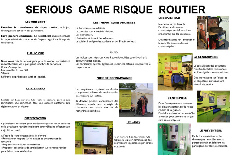 Flyer de présentation Serious Game   - Prev2r